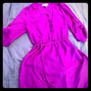 Purple Blouse with waist tie